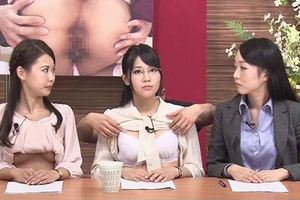 「くぱぁーポーズは英語ではピンクショットといいます..」女子アナ3人が最新トレンドニュースを伝えるw