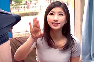 【マジックミラー号】Fカップのアラサー美女が初めてのセンズリ鑑賞