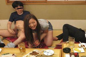 ★舞島あかり★ホットパンツ着衣激かわお姉さんがハイボール7杯を飲んで激エロ状態に・・