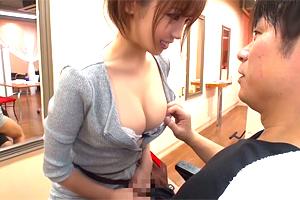 吉澤友貴 「個室に移動する?」巨乳の美容師さんに誘惑された…!