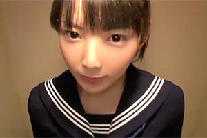 西野まお 童顔でピュアな制服美少女がホテルでオジサンにハメ撮りされる…
