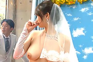 【マジックミラー号】結婚式を挙げたばかりの花嫁に新郎よりもお先に中出し!