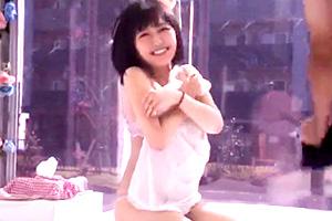 【マジックミラー号】ショートカットの巨乳女子大生の性事情を垣間見る