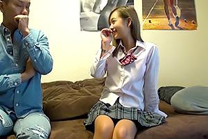 【素人】円光倶楽部でゲットしたギャルJKを自宅ハメ撮り