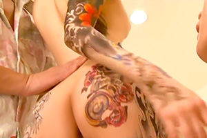 森沢かな エロさが際立つ全身タトゥーの女