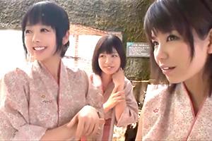【尾上若葉 愛須心亜】温泉旅館でアルバイトしてるJKたちとヤリまくり!
