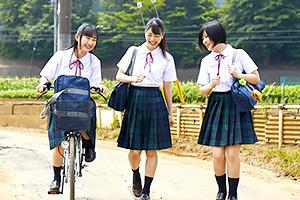 【マジックミラー号】夏服JKはやっぱりいいな。田舎の純粋無垢な美少女をナンパ!