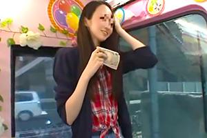 【マジックミラー号】才色兼備のインテリ女子大生がお金に負けてオナニー公開!