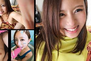 【スマホ撮影】堀北真希似の10代美少女の電マ2刀流ハメ撮りSEX動画 個人撮影。