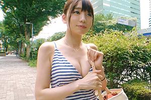 【募集ちゃん】爆乳ワンピースが可愛いむっつりド変態スケベ事務員(23)とのSEX動画