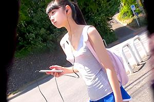 【素人】「ブラなんて必要ないじゃん!」富山の田舎町の貧乳コンビニ店員が可愛い