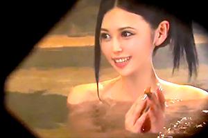 【素人】男湯に美形大学生がタオル一枚で乱入!見ず知らずの男性客のチンコ洗うw