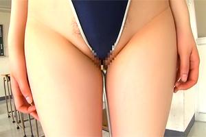 立川理恵 ハイレグの食い込みが凄い!Hカップ巨乳のスク水少女と3Pセックス