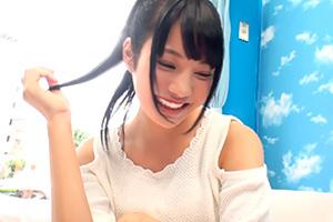 【マジックミラー号】肩出し可愛いね!19歳美少女が声ガマンゲーム