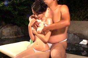 【人妻】垢すりフンドシ男の卑猥なオイルマッサージの一部始終