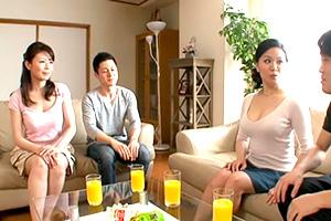 【熟女】三浦恵理子 佐藤美紀 禁断の宴。母子スワッピング