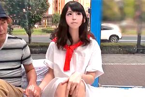 【マジックミラー号】絶叫するほど敏感な女子大生がニセ童貞に生ハメされる!