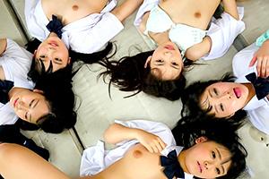 【JK】跡美しゅり 宮崎あや 時間停止で好き放題できる学園生活で美少女たちをイタズラ!