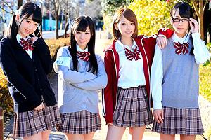中出しSEXに興味津々の美少女JKグループが男子を襲って生ハメしまくる!