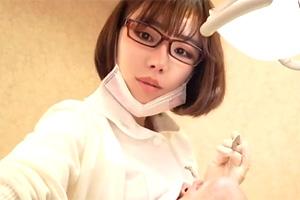 深田えいみ 美人で色っぽい歯科衛生士が巨乳を顔に押し付けてきた…