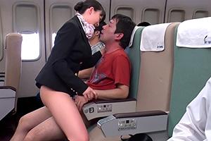 【蓮実クレア 羽月希】SEXのハードル低すぎ!エッチなサービス満点の航空会社