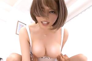 本田岬 ハイレグレースクイーンが巨乳を揺らすガニ股騎乗位SEX!