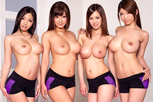 【手コキ フェラ】巨乳美女インストラクターのちんぽトレーニング