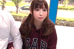 【マジックミラー号】10代のパイパン体育大生にニセ童貞が激ピストン中出し!