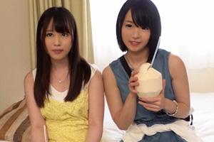 【ナンパTV】仲良しの女子大生が初めてのレズで絡む逆3Pセックス動画