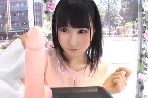 【マジックミラー号】ミニマム女子大生が極太ディルドを挿入!