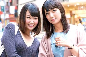 【素人】姉妹みたいな美人母娘をナンパして親子丼3Pセックス!
