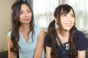 【素人】若くて元気な娘と妖艶な美人ママをナンパして親子丼3P!
