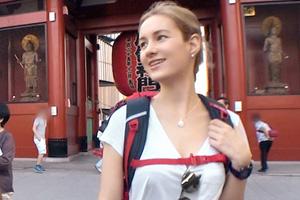 【ナンパTV】浅草でナンパした長身ロシア美女が激しい立ちバックで絶頂するSEX動画