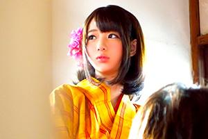 【素人】お江戸テーマパークの巨乳町娘と仲良くなってホテル連れ込み成功!