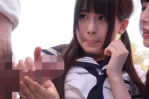 【マジックミラー号】北川ゆず 学校帰りのJKがMM号にのっちゃった!友人の前で処女卒業!