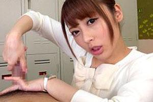 桜井あゆ ドエロイ淫語で言葉責めしながらM男を犯す!貧乳痴女教師の悶絶手コキセックス!