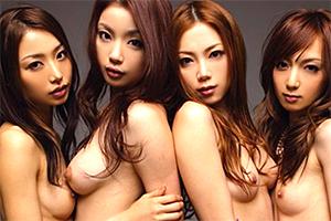 神スタイルの美女たちが貪欲にチンポを求める8P大乱交SEX!