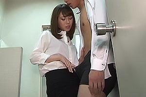 北川ゆず 会社のトイレで上司のアナル責め!ドS痴女OLのM性感調教!