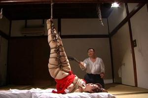 翔田千里 夫の教え子にレイプされた巨乳の人妻!たどり着いた宿で緊縛調教されてしまう