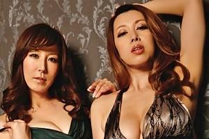 風間ゆみ 澤村レイコ 巨乳が美しい誘惑のパイズリ&フェラで乱交セックスするW魔女