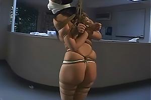水咲ありみ 全身緊縛した巨乳女を変態医師がで院内SM!ケツ鞭打ちで真っ赤に腫れ上がる!