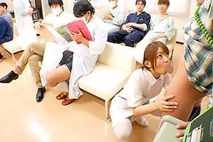 麻里梨夏 1日限定ナースになって患者さんのチンポをノーハンドフェラ!口内射精でザーメン搾り取る!