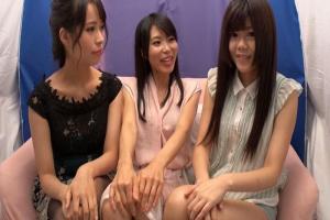 真木今日子 女友達カップルをナンパし耳元で囁いたりキスしたりして3PレズSEXへ