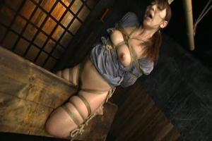 妃乃ひかり 緊縛拘束された巨乳美女をSM調教!三角木馬にノーパンまんこが食い込む