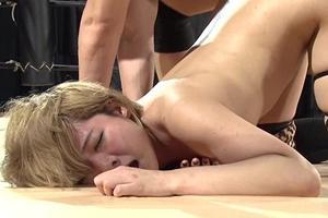 雷電マオ 巨乳女プロレスラーがリング上でアナルセックス!尻穴にザーメンを中出しされる
