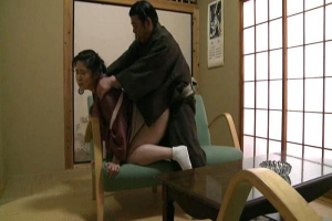 辻美夏 巨乳未亡人がマンコおっぱい舐め回され感じちゃう激しいピストンで絶頂