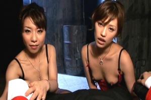 雪野ひかる 長澤リカ 2人の美女が男根をフェラしてザーメンを搾り取る淫乱テクニック