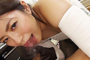 音無かおり 女優X手袋のグローブフェティッシュがフェチなチンポを手コキでヌイちゃうマニアック