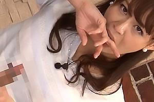 京野明日香 しほの千里 淫語だらけのニュースを読み上げる女子アナ!出演中にちんぽを手コキフェラ