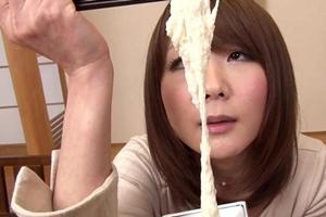 加納綾子 泥酔した女子アナウンサーが淫語を言いながらグルメリポート!男根も手コキフェラ